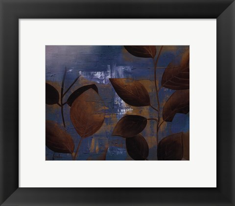 Framed Eco Blue II Print