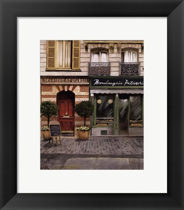 Framed French Store I Print