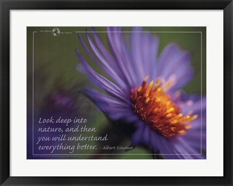 Framed Look Deep Print