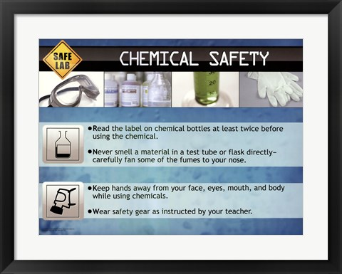 Framed Chemical Safety Print