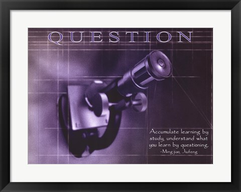 Framed Question Print