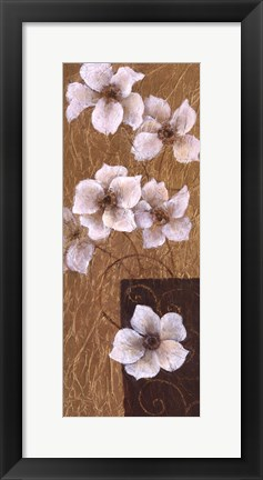Framed Blossoms on Gold II Print