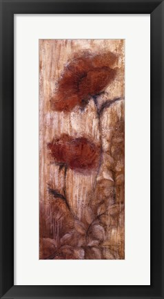 Framed Long Tall Poppies II Print