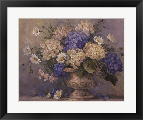 Framed Blue and White Delight Print