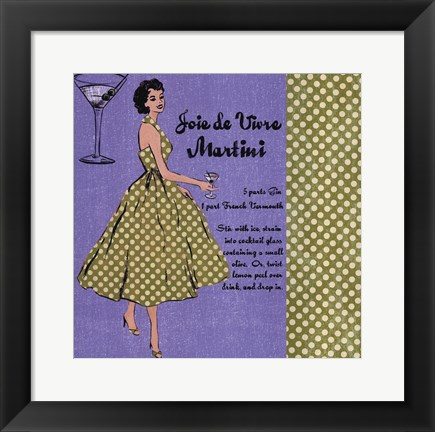Framed Martini Lady Print