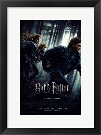 Framed Harry Potter and the Deathly Hallows: Part I Print