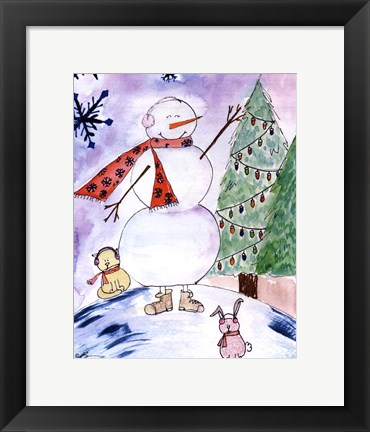 Framed Yet Another Snowman Print