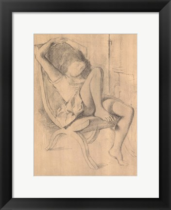 Framed Untitled Drawing Print