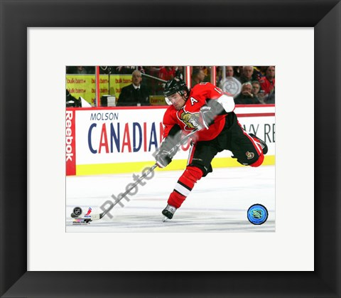 Framed Mike Fisher 2010-11 Action Print