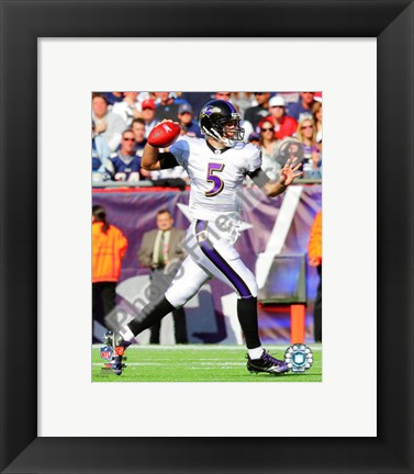 Framed Joe Flacco 2010 Action Print