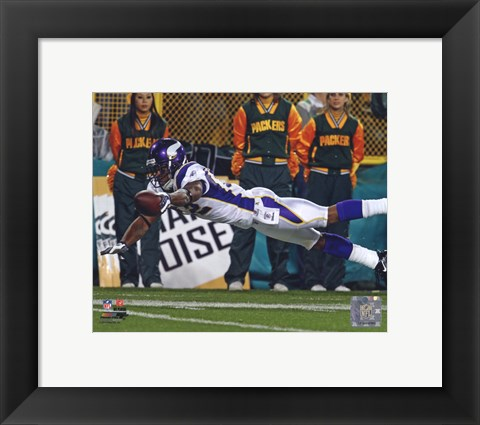 Framed Percy Harvin 2010 Action Receiving Print