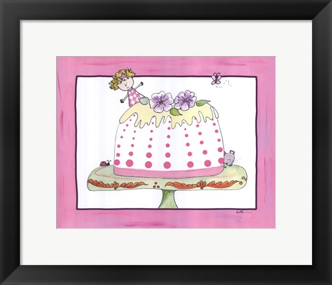 Framed Sophie and the Tea Cake Print
