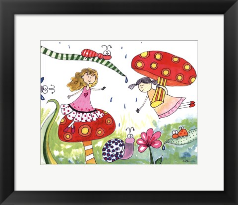 Framed Springtime Fairies Print