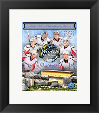 Framed Washington Capitals 2010 Winter Classic Portrait Plus Print