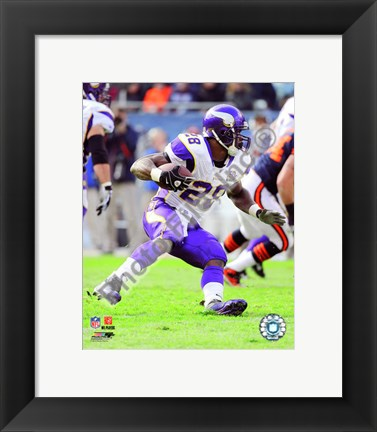 Framed Adrian Peterson 2010 Action Print