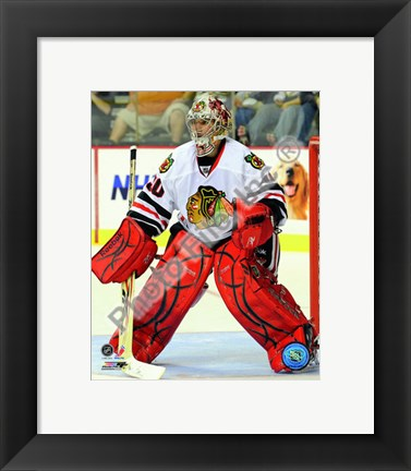 Framed Marty Turco 2010-11 Action Print