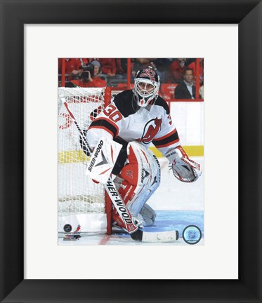 Framed Martin Brodeur 2010-11 Action Print