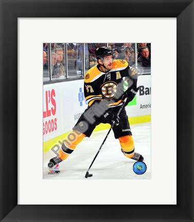 Framed Patrice Bergeron 2010-11 Action Print