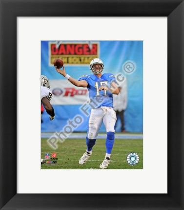 Framed Philip Rivers 2010 Action Print