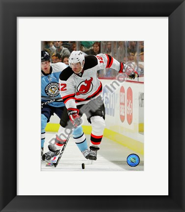 Framed Brian Rolston 2010-11 Action On The Ice Print