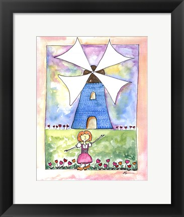 Framed Girl in Holland Print
