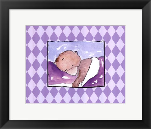 Framed Sleeping Baby I - Bear Print
