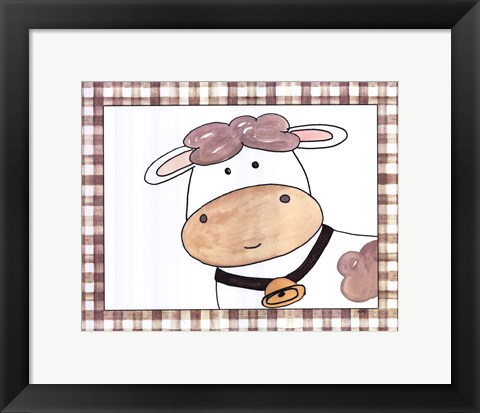 Framed Here's Looking at You - Cow Print