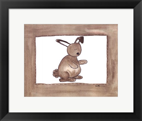 Framed Vintage Rabbit Print