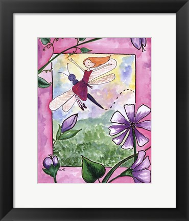 Framed Dragonfly Flight Print