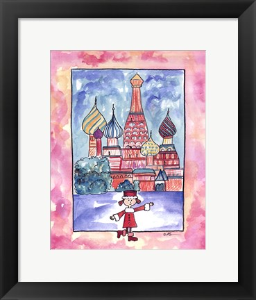 Framed Girl In Russia Print