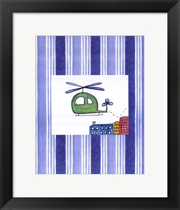 Framed Helicopter Print