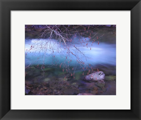 Framed Early Spring Mt. Creek Print