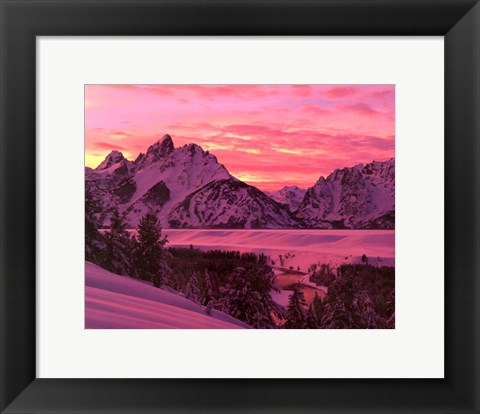 Framed Teton Sunset Print