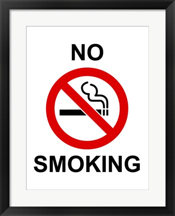 Framed No Smoking - sign Print