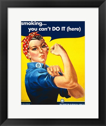 Framed Smoking - You Cant Do It Print