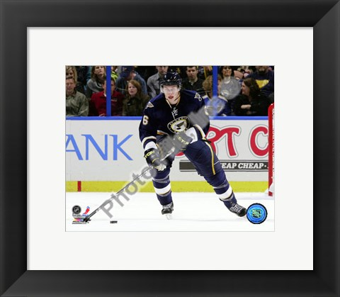 Framed Erik Johnson 2010-011 Action Print