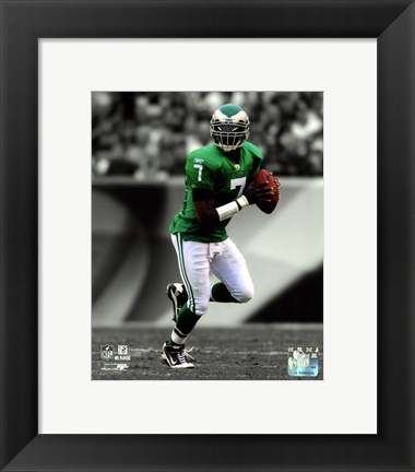 Framed Michael Vick 2010 Spotlight Action Print