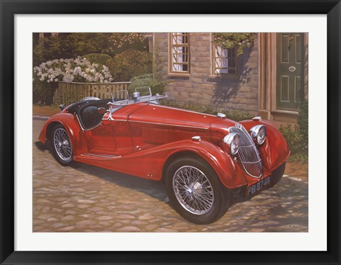 Framed Riley Red Roadster Print
