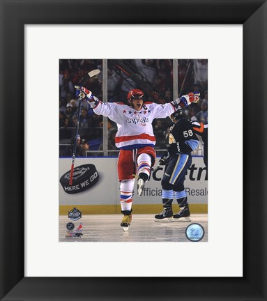 Framed Alex Ovechkin 2011 NHL Winter Classic Action Print
