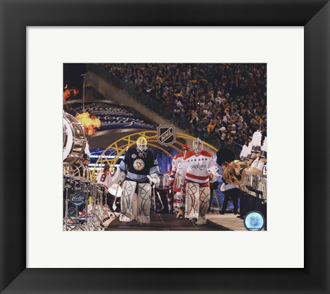 Framed Semyon Varlamov & Marc-Andre Fleury 2011 NHL Winter Classic Action Print