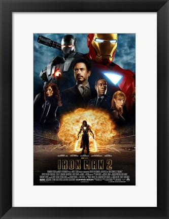 Framed Iron Man 2 Explosion Print