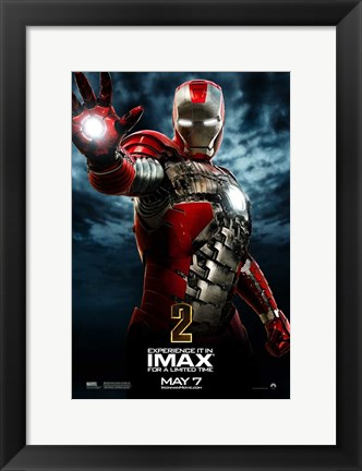 Framed Iron Man 2 Red Suit Print