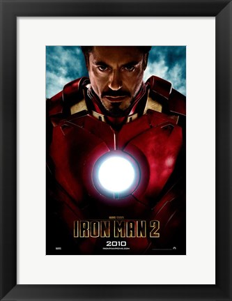 Framed Iron Man 2 2010 Print
