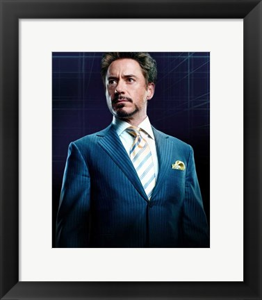 Framed Iron Man 2 Robert Downey Jr. Print