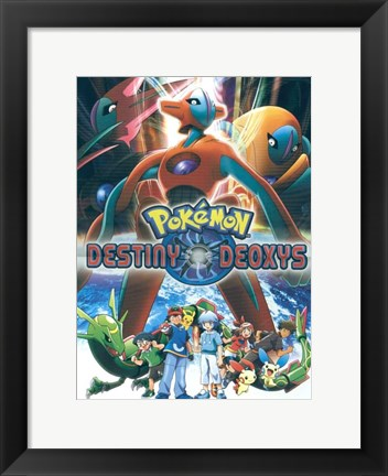 Framed Pokemon: Destiny Deoxys Print