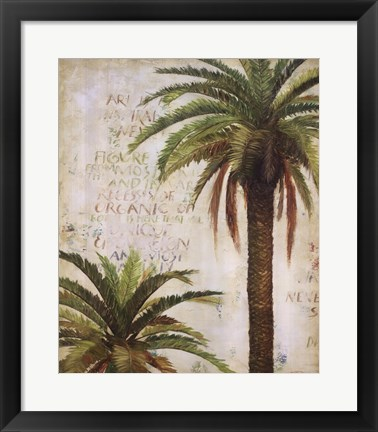 Framed Palms and Scrolls I Print