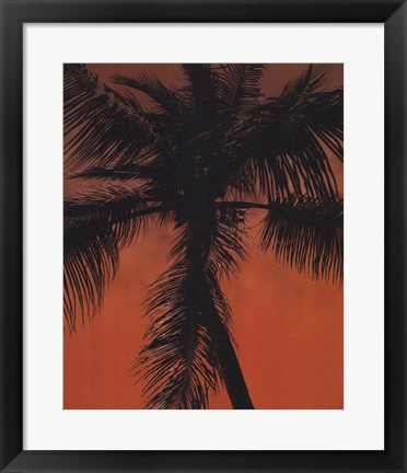 Framed Palm on Orange Print