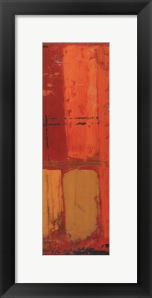 Framed Abstraction on Red II Print