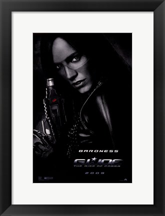 Framed G.I. Joe: Rise of Cobra - Baroness Print