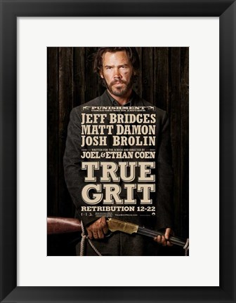 Framed True Grit Jeff Bridges Print